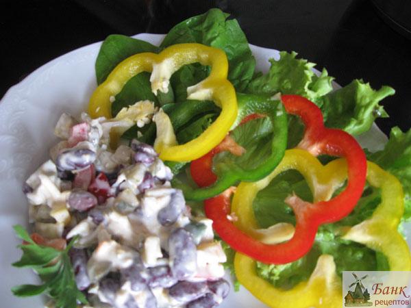 Вкусный салат с фасолью на день рождения рецепт