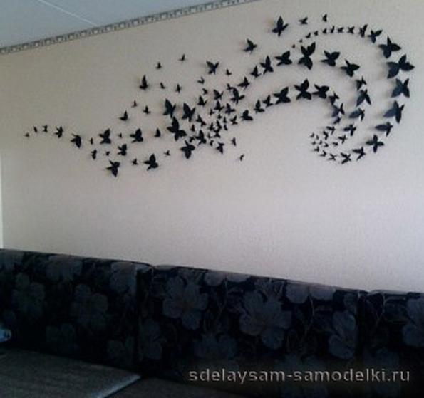 Бабочки своими руками на стену фото