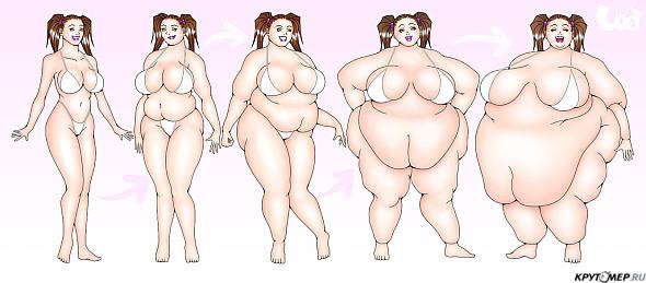 рисунки голых толстушек