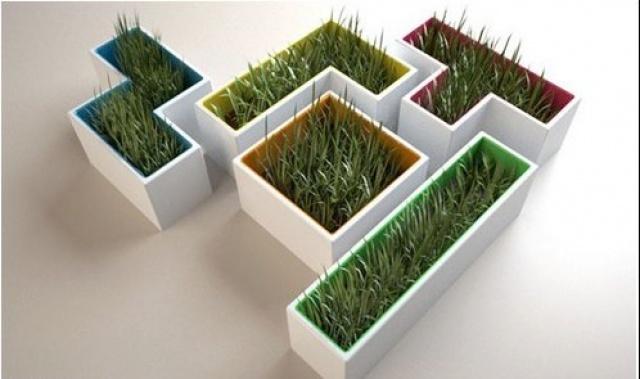 Керамические горшки для цветов прямоугольные