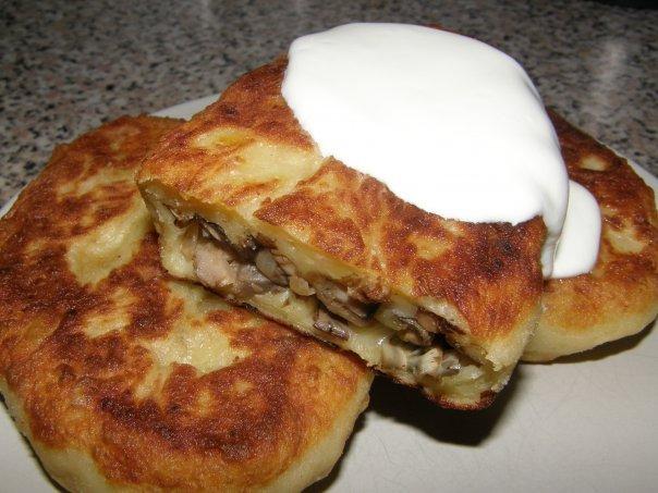 Рецепт биточков картофельных с грибами