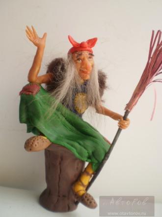 Поделка Баба Яга. Как сделать из бумаги Бабу Ягу, ведьму на метле, ведьму?