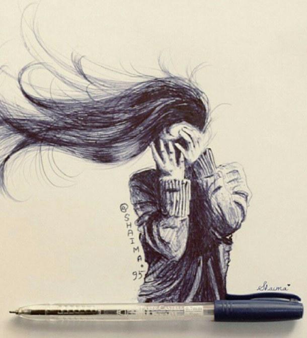 картинки девушек со спины нарисованные