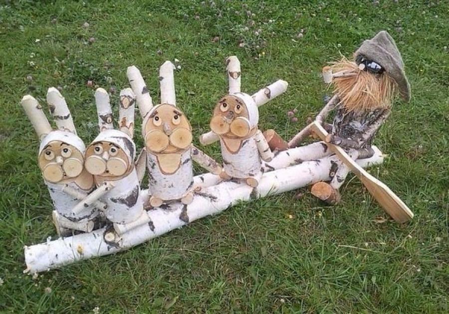 Поделки из дерева своими руками в саду и огороде