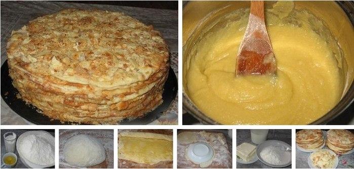 Как печь торт наполеон в домашних условиях рецепт