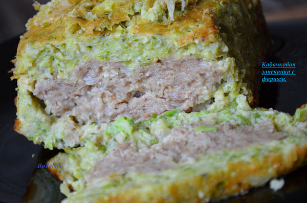 Запеканка из кабачков с фаршем в духовке рецепты с пошагово