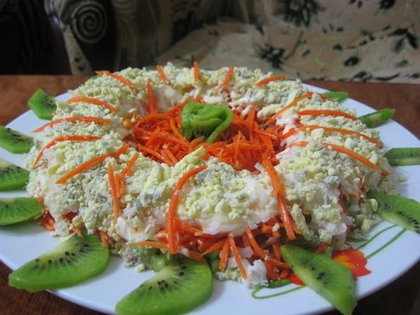 Салат с киви рецепт фото