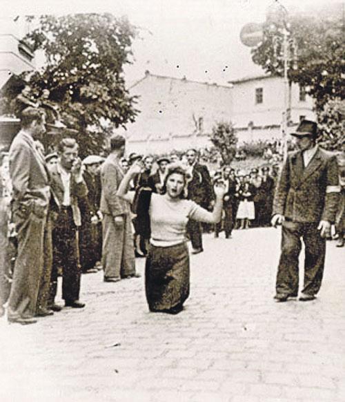 Фото как фашисты издевались над женщинами