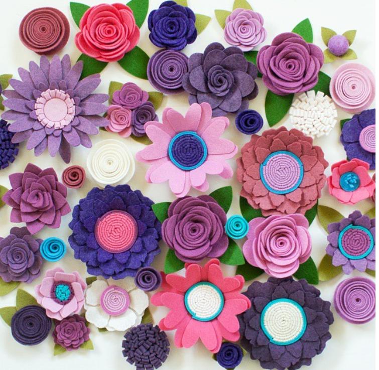 Цветы из мягкого фетра своими руками 90