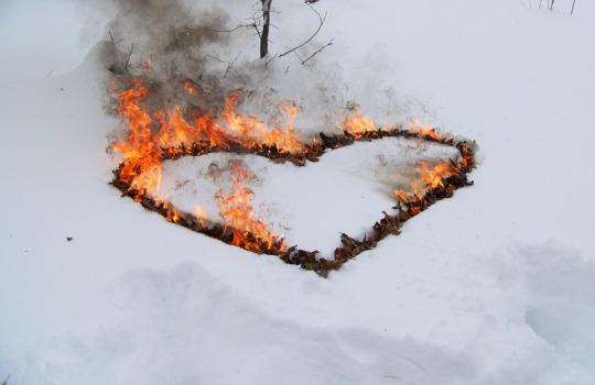 Как сделать сердце что она горела 462
