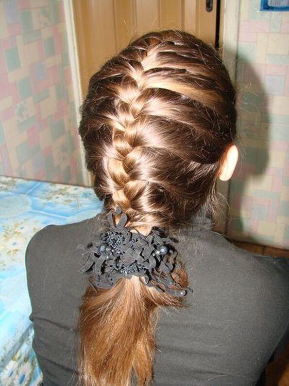 Причёски плетение колосков