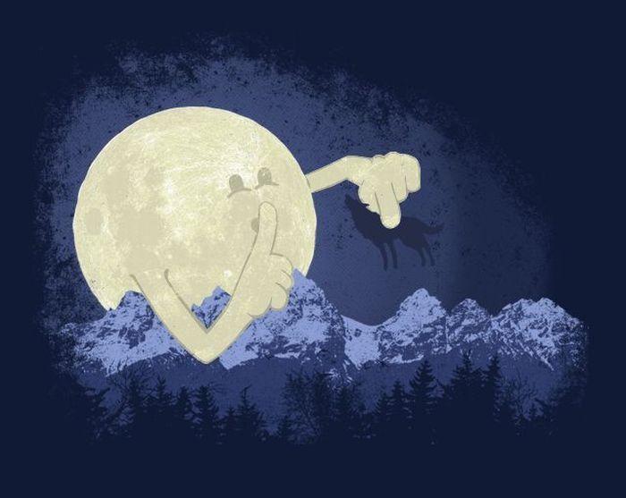 Луна картинки смешные, красавице картинка
