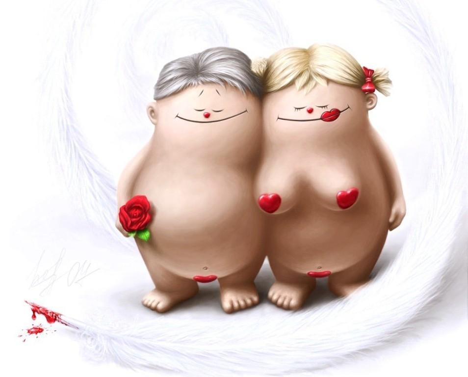 Смешные открытки про любовь