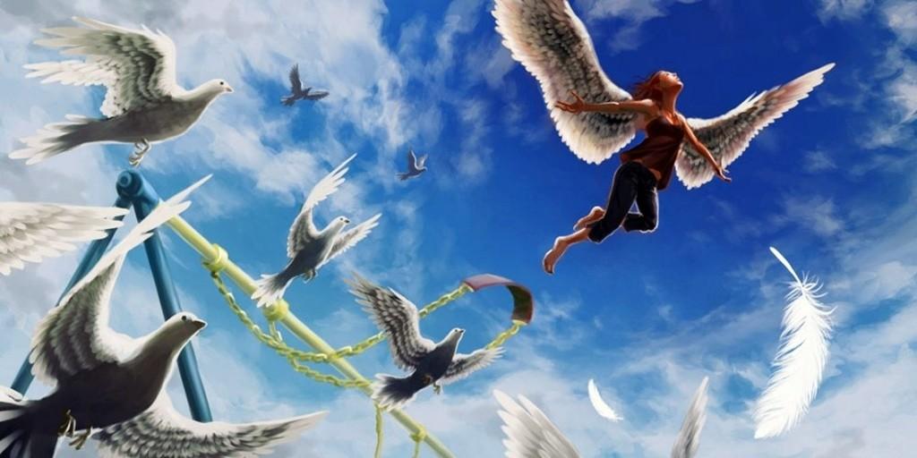 Фото, картинка хочу летать