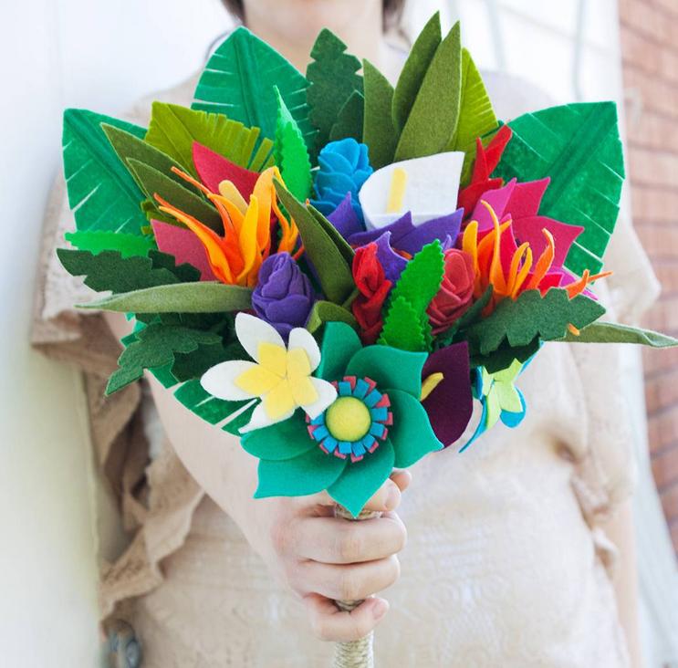 поделка букет цветов своими руками затяжке