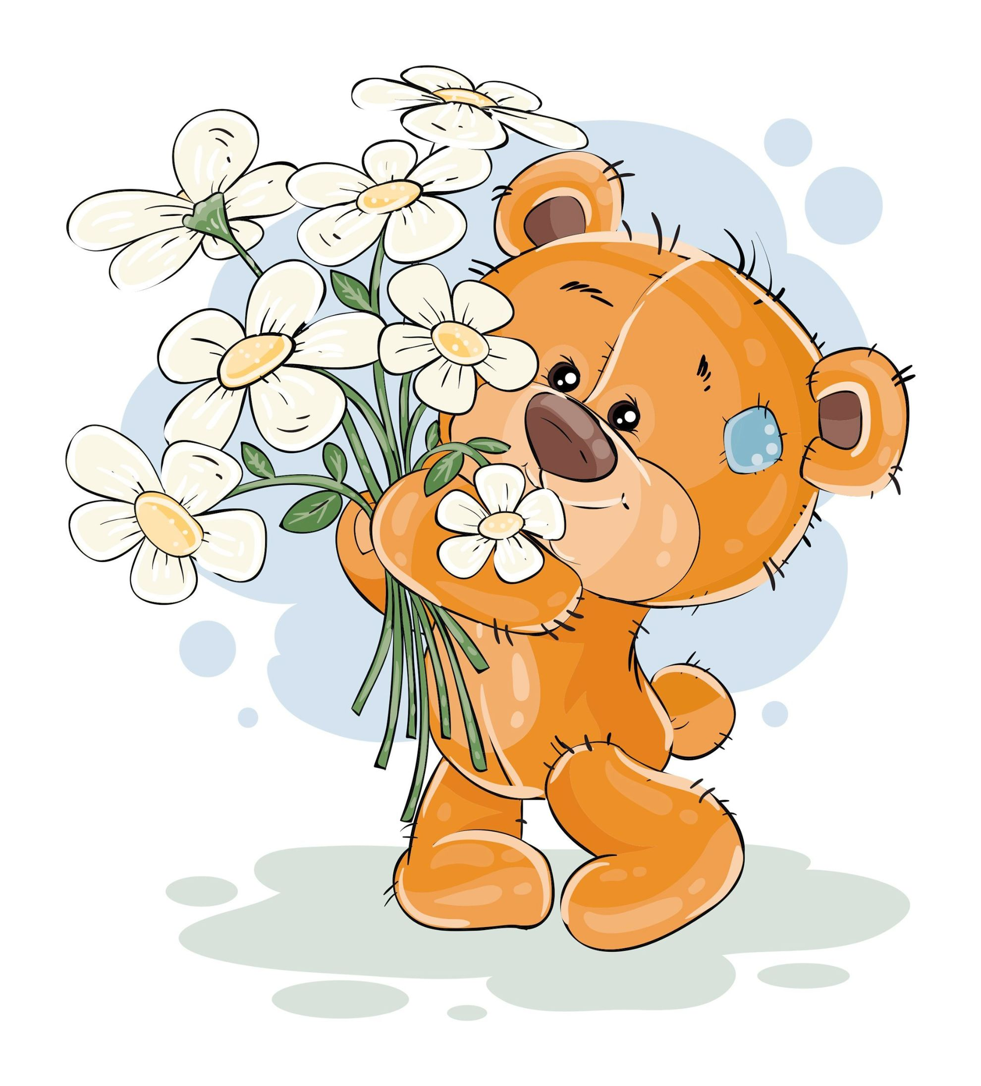 вариации медведь цветы открытка образом она будет