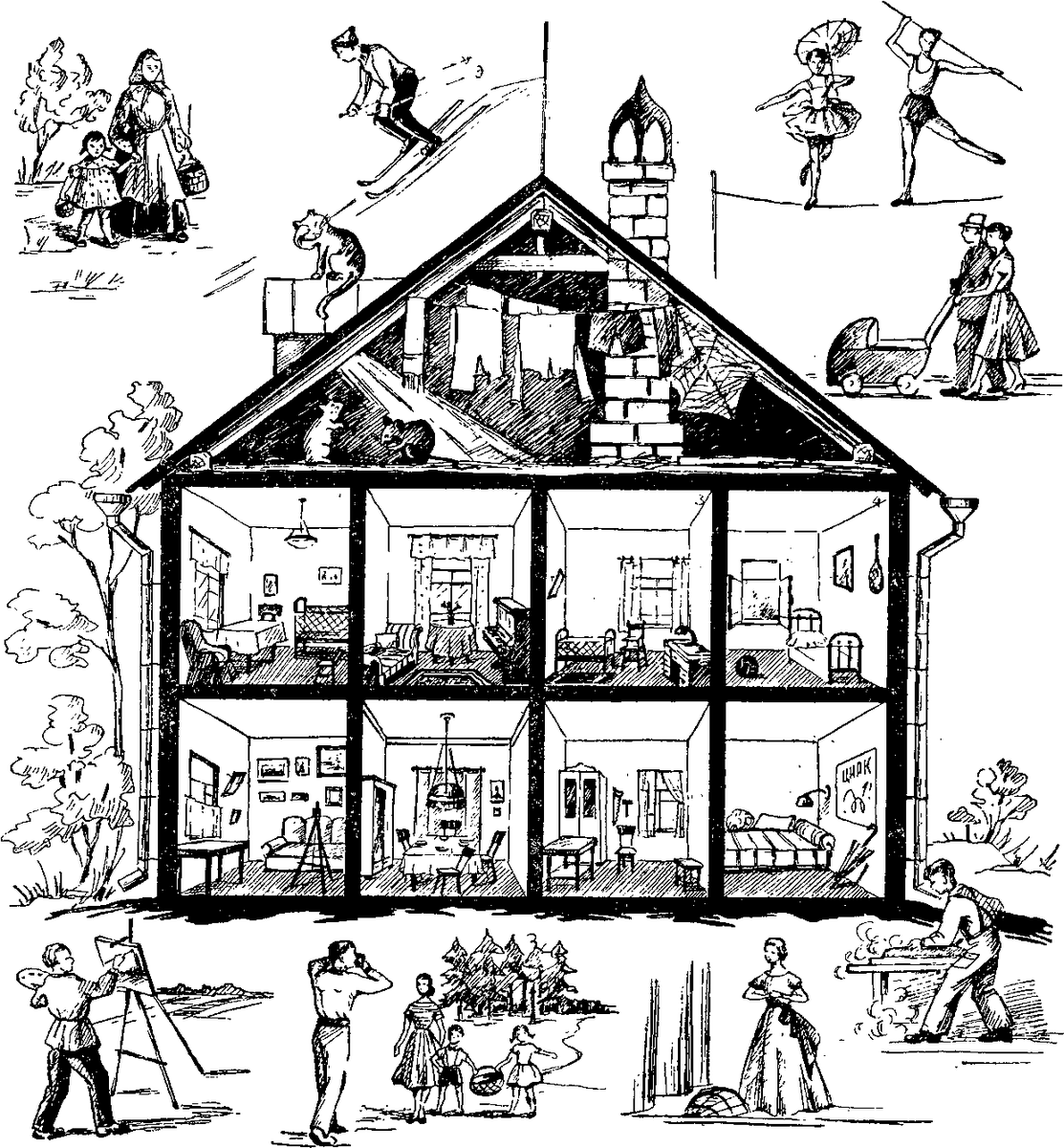 Советские головоломки в картинках с ответами