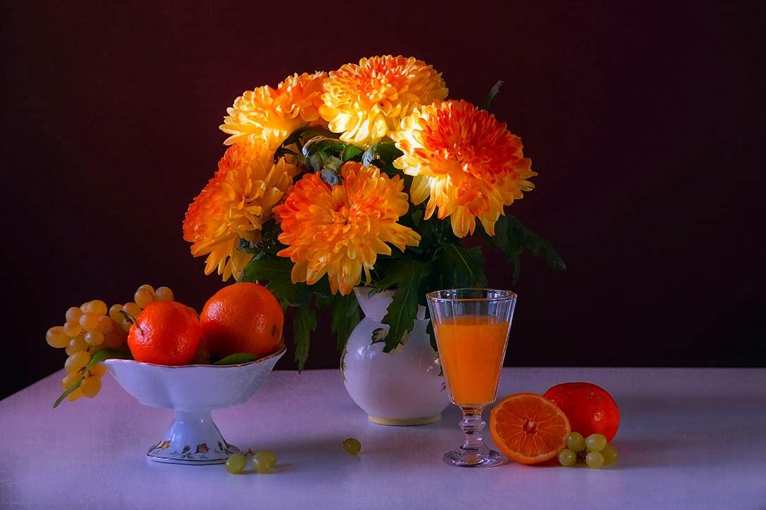 Открытка доброе утро с хризантемами, картинки иван