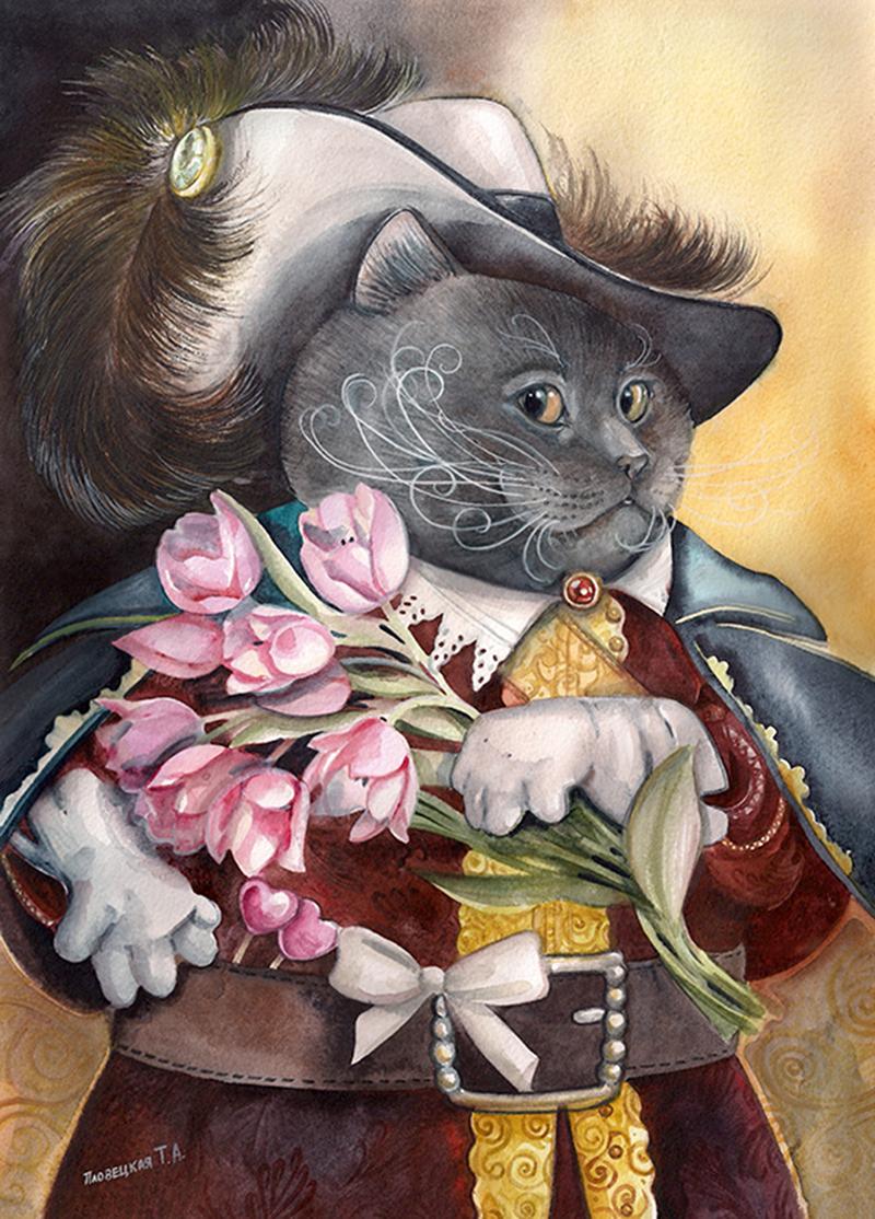 Открытка британский кот